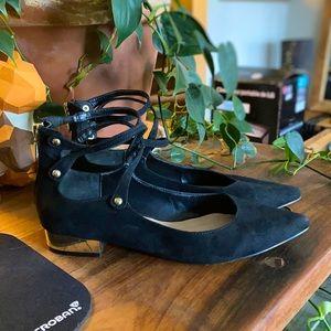Aldo | Strappy Pointed Low Heels - 8, Black